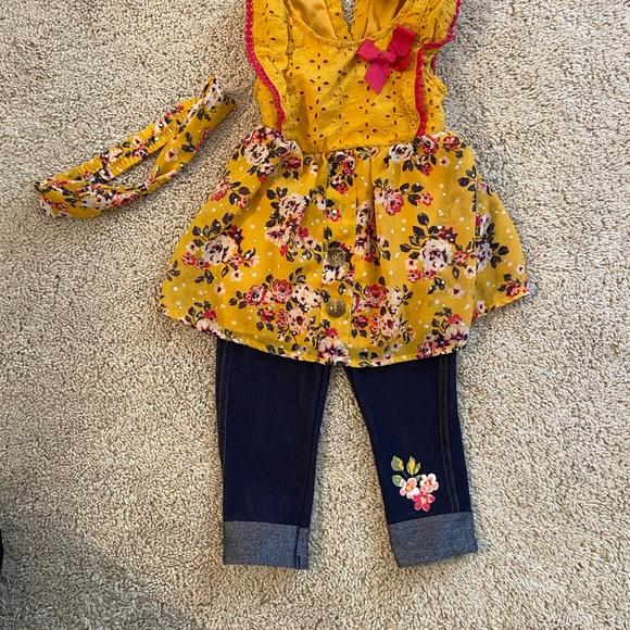 Little Lass 3 piece girls outfit.  Size 24 mths
